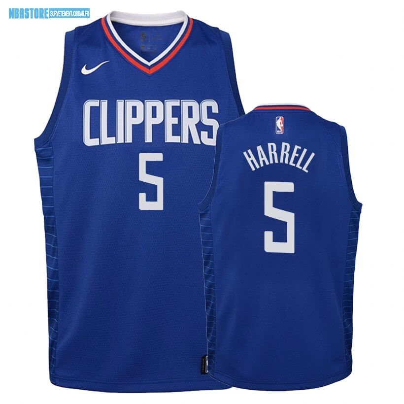 Maillot NBA Enfant Los Angeles Clippers NO.5 Montrezl Harrell Bleu Icon 2019-20 Qualité 100%