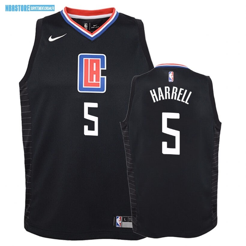 Maillot NBA Enfant Los Angeles Clippers NO.5 Montrezl Harrell Noir Statement 2019-20 Qualité 100%