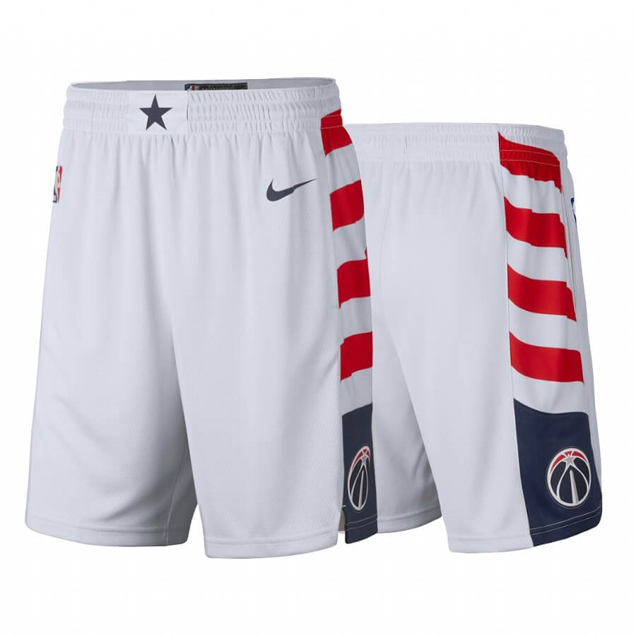 Short Basket Washington Wizards Nike Blanc Ville 2019-20 Qualité 100%
