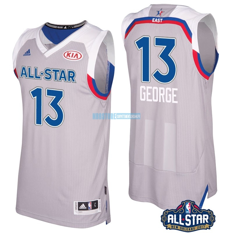 Maillot NBA 2017 All Star NO.13 Paul George Gray Qualité 100%