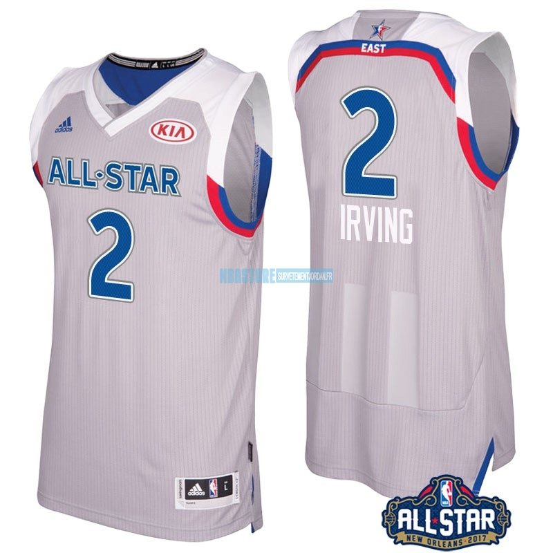 Maillot NBA 2017 All Star NO.2 kyrie Irving Gray Qualité 100%