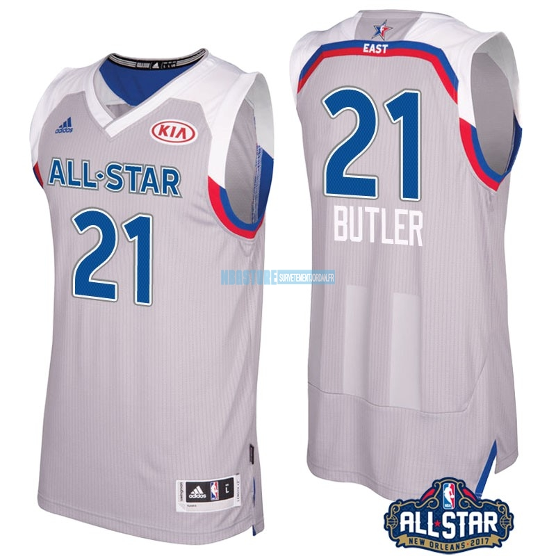 Maillot NBA 2017 All Star NO.21 Jimmy Butler Gray Qualité 100%