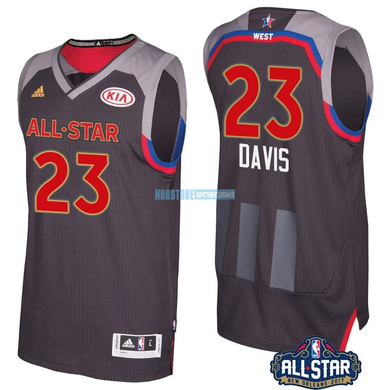 Maillot NBA 2017 All Star NO.23 Anthony Davis Charbon Qualité 100%