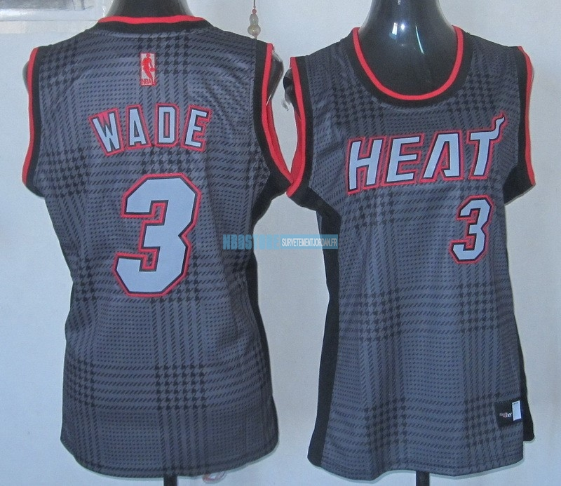 Maillot NBA Femme 2013 Static Fashion NO.3 Wade Qualité 100%