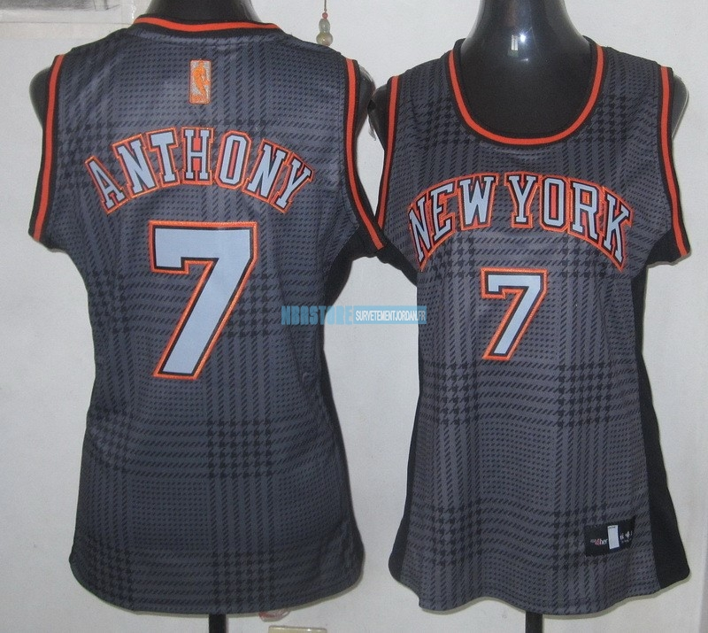 Maillot NBA Femme 2013 Static Fashion NO.7 Carmelo Anthony Qualité 100%