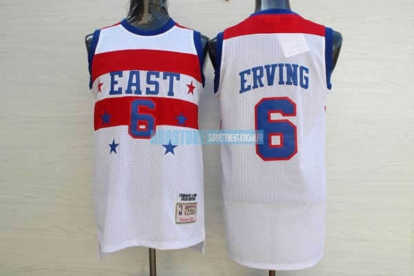 Maillot NBA 1980 All Star NO.23 Julius Winfield Erving Blanc Qualité 100%