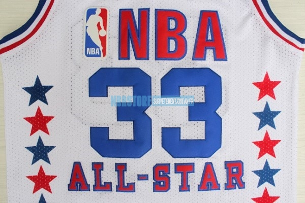 Maillot NBA 1990 All Star NO.33 Larry Joe Bird Blanc Qualité 100%