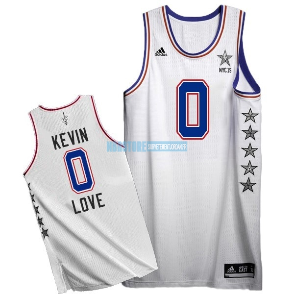 Maillot NBA 2015 All Star NO.0 Kevin Love Blanc Qualité 100%