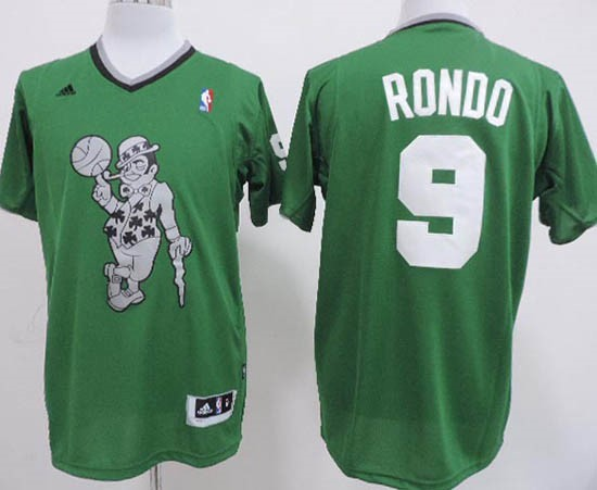 Maillot NBA Boston Celtics 2013 Noël NO.9 Rondo Veder Qualité 100%