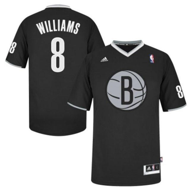 Maillot NBA Brooklyn Nets 2013 Noël NO.8 Williams Noir Qualité 100%