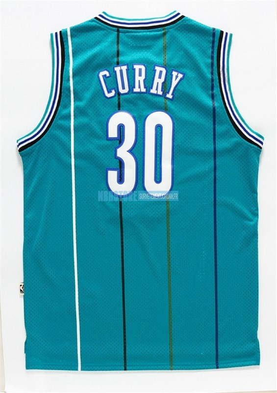 Maillot NBA Charlotte Hornets NO.30 Wardell Stephen Curry Vert Qualité 100%