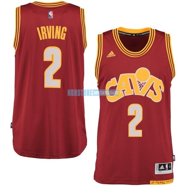 Maillot NBA Cleveland Cavaliers NO.2 Kyrie Irving 2015-2016 Rouge Qualité 100%