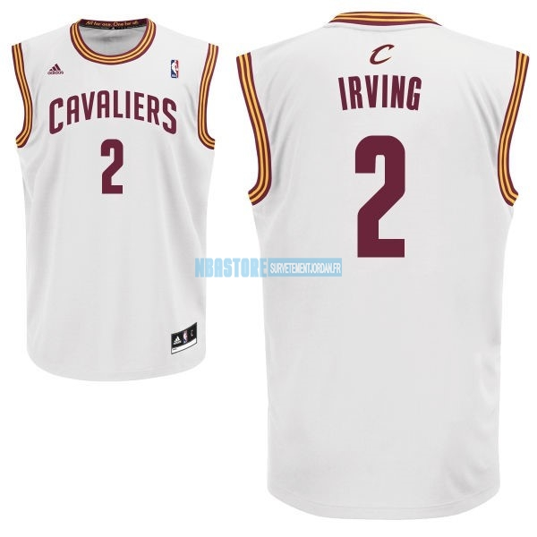 Maillot NBA Cleveland Cavaliers NO.2 Kyrie Irving Blanc Qualité 100%