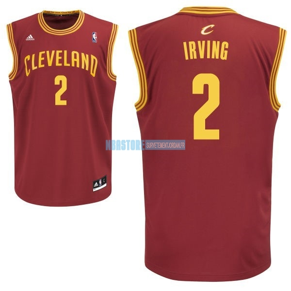 Maillot NBA Cleveland Cavaliers NO.2 Kyrie Irving Rouge Qualité 100%