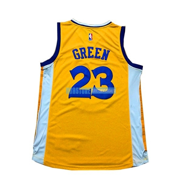 Maillot NBA Femme Golden State Warriors NO.23 Draymond Green Jaune Qualité 100%
