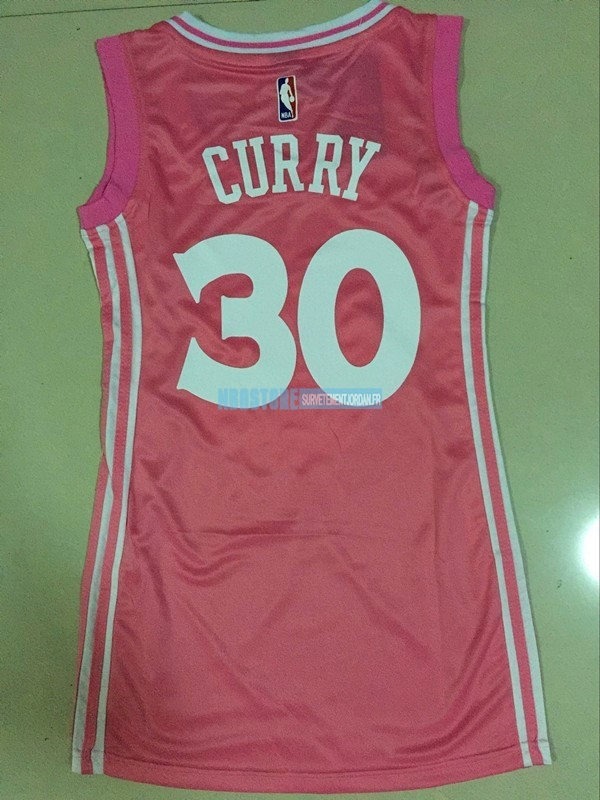 Maillot NBA Femme Golden State Warriors NO.30 Stephen Curry Rose Qualité 100%