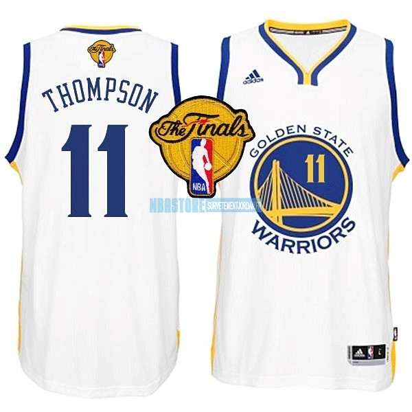 Maillot NBA Golden State Warriors Finales NO.11 Thompson Blanc Qualité 100%