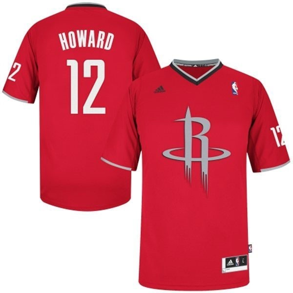 Maillot NBA Houston Rockets 2013 Noël NO.12 Howard Rouge Qualité 100%