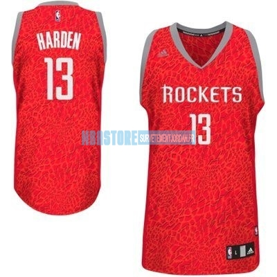 Maillot NBA Houston Rockets Luz Léopard NO.13 Harden Rouge Qualité 100%