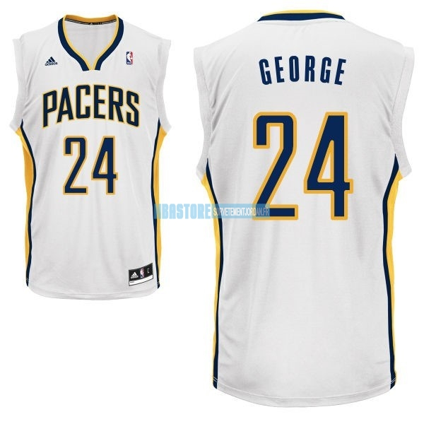 Maillot NBA Indiana Pacers NO.24 Paul George Blanc Qualité 100%