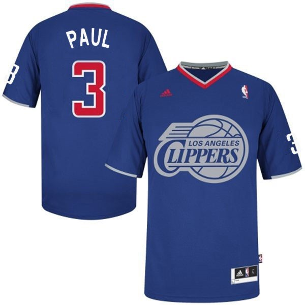 Maillot NBA Los Angeles Clippers 2013 Noël NO.3 Paul Bleu Qualité 100%