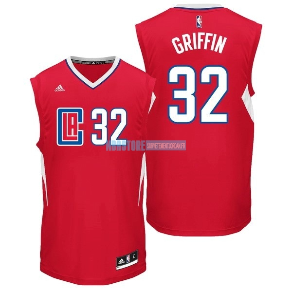 Maillot NBA Los Angeles Clippers NO.32 Blake Griffin Rouge Qualité 100%
