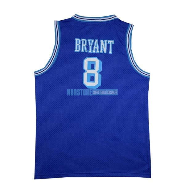 Maillot NBA Los Angeles Lakers NO.8 Kobe Bryant Bleu Qualité 100%