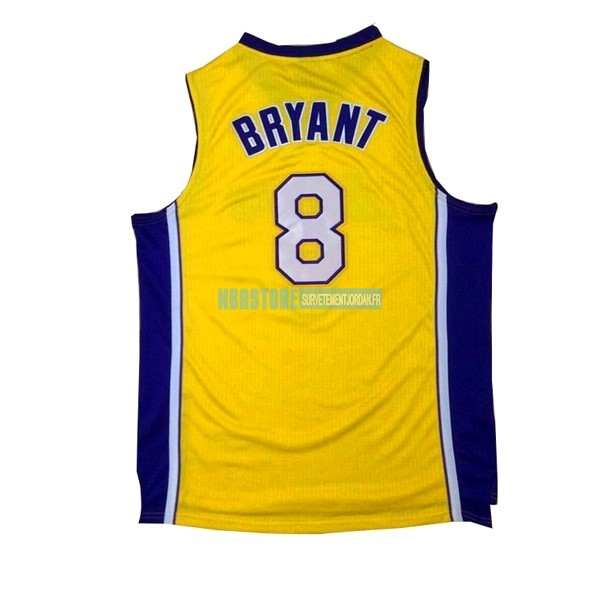 Maillot NBA Los Angeles Lakers NO.8 Kobe Bryant Jaune Pourpre Qualité 100%
