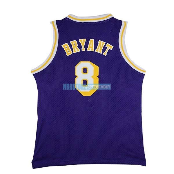 Maillot NBA Los Angeles Lakers NO.8 Kobe Bryant Pourpre Qualité 100%