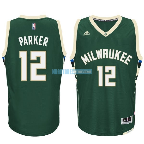 Maillot NBA Milwaukee Bucks NO.12 Jabari Parker Vert Qualité 100%