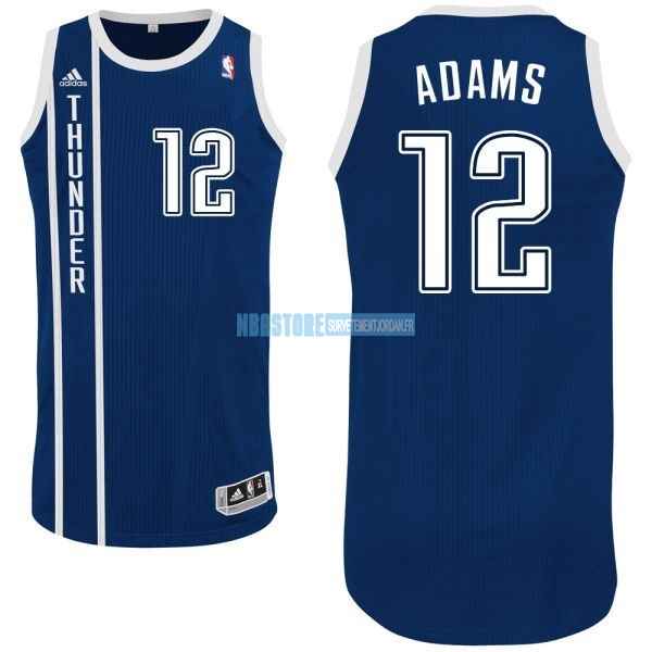 Maillot NBA Oklahoma City Thunder NO.12 Steven Adams Retro Bleu Qualité 100%