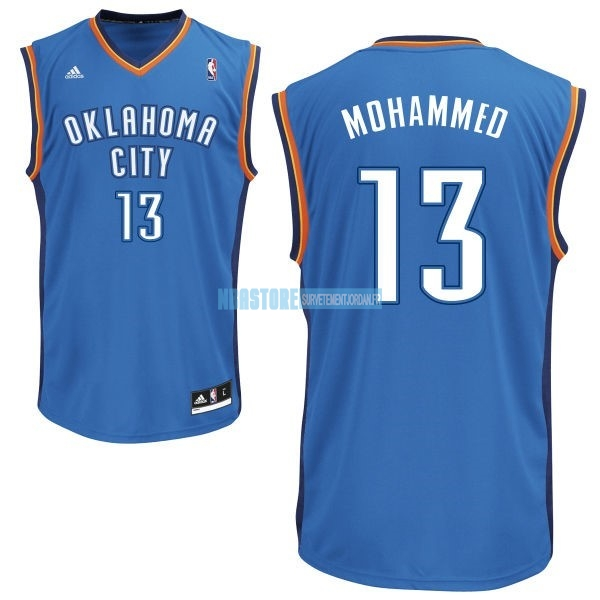 Maillot NBA Oklahoma City Thunder NO.13 James Harden Bleu Qualité 100%