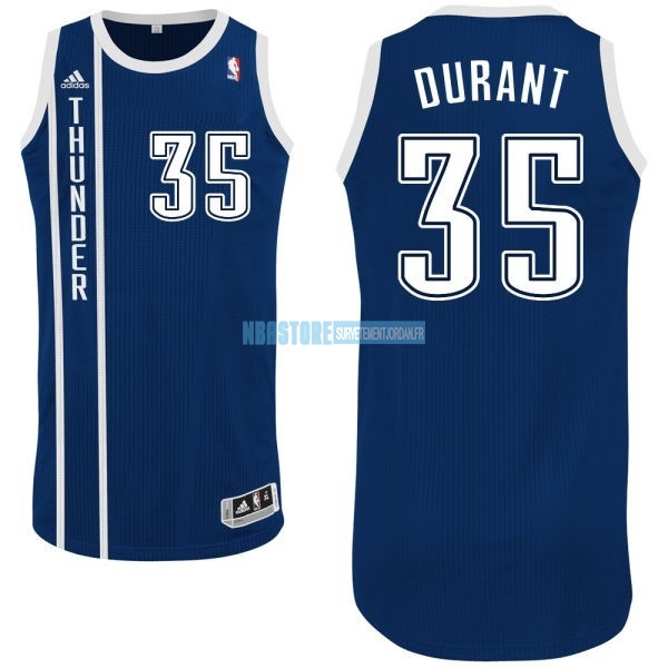Maillot NBA Oklahoma City Thunder NO.35 Kevin Durant Retro Bleu Qualité 100%