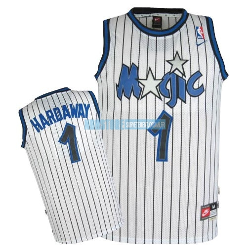 Maillot NBA Orlando Magic NO.1 Anfernee Hardaway Blanc Qualité 100%