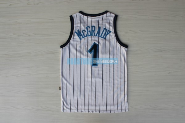 Maillot NBA Orlando Magic NO.1 Tracy McGrady Blanc Qualité 100%