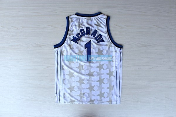 Maillot NBA Orlando Magic NO.1 Tracy McGrady Blanc Sombre Qualité 100%