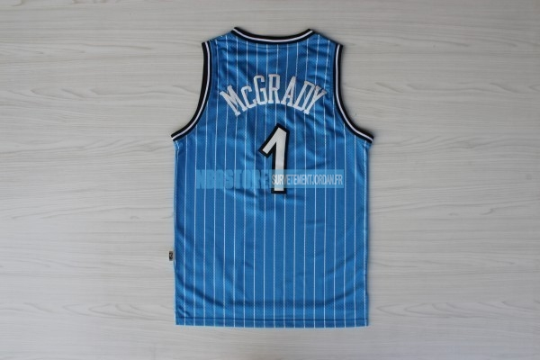 Maillot NBA Orlando Magic NO.1 Tracy McGrady Bleu Qualité 100%