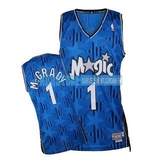 Maillot NBA Orlando Magic NO.1 Tracy McGrady Bleu Sombre Qualité 100%
