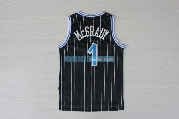 Maillot NBA Orlando Magic NO.1 Tracy McGrady Noir Qualité 100%