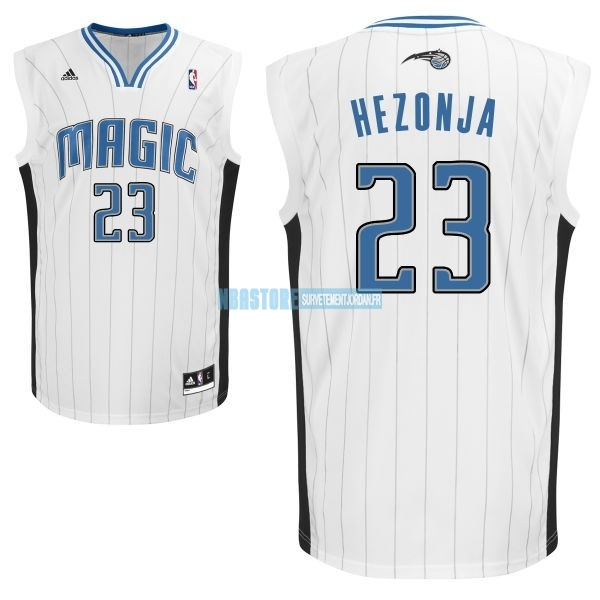 Maillot NBA Orlando Magic NO.23 Mario Hezonja Blanc Qualité 100%