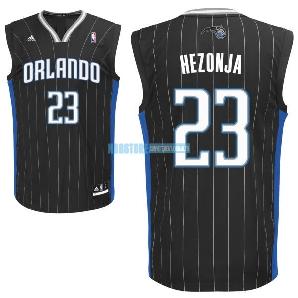 Maillot NBA Orlando Magic NO.23 Mario Hezonja Noir Qualité 100%