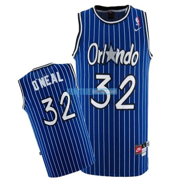 Maillot NBA Orlando Magic NO.32 Shaquille O'Neal Bleu Qualité 100%