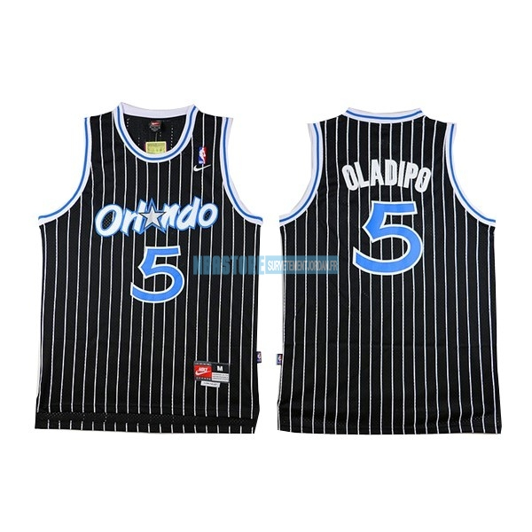 Maillot NBA Orlando Magic NO.5 Victor Oladipo Noir Qualité 100%