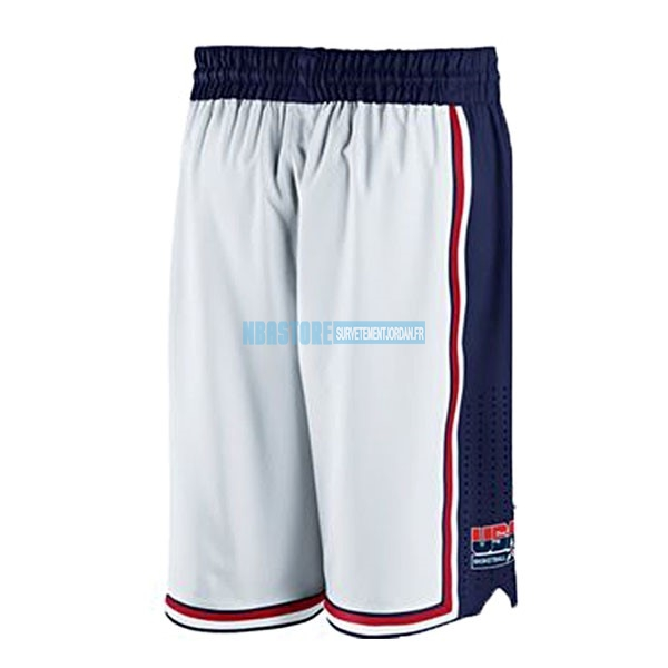 Short Basket 1992 USA Blanc Qualité 100%