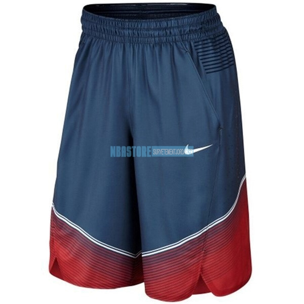 Short Basket 2014 USA Bleu Qualité 100%
