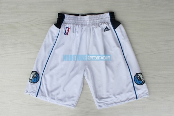 Short Basket Dallas Mavericks Blanc Qualité 100%