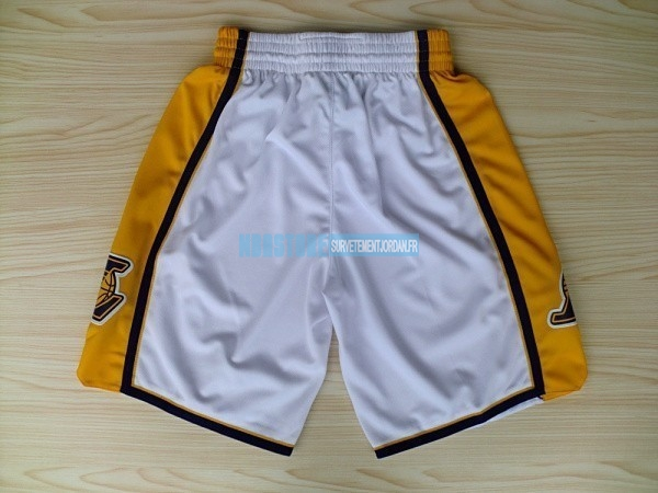 Short Basket Los Angeles Lakers Blanc 2018 Qualité 100%