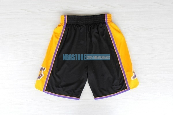Short Basket Los Angeles Lakers Noir Qualité 100%