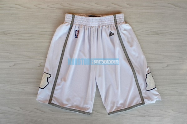 Short Basket Los Angeles Lakers Retro Blanc Qualité 100%