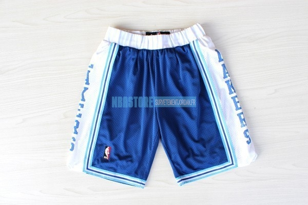 Short Basket Los Angeles Lakers Retro Bleu Qualité 100%
